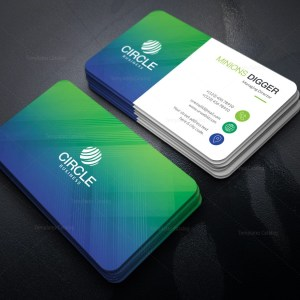 Peacock Business Card Template