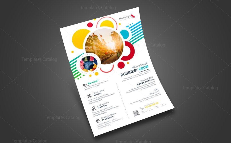 Print Marketing Flyer Design 002439 - Template Catalog