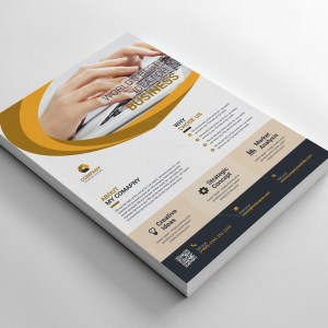 Layered Business Flyer Design
