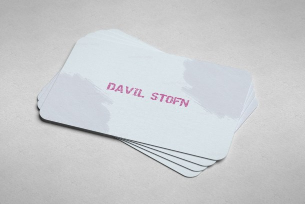 Light Blue Print Business Card