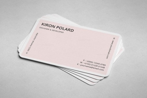 Pale Pink Business Card