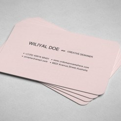 Pink Black Business Cards