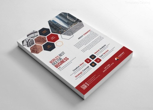 Corporate Flyers Design with Hexagon Shapes