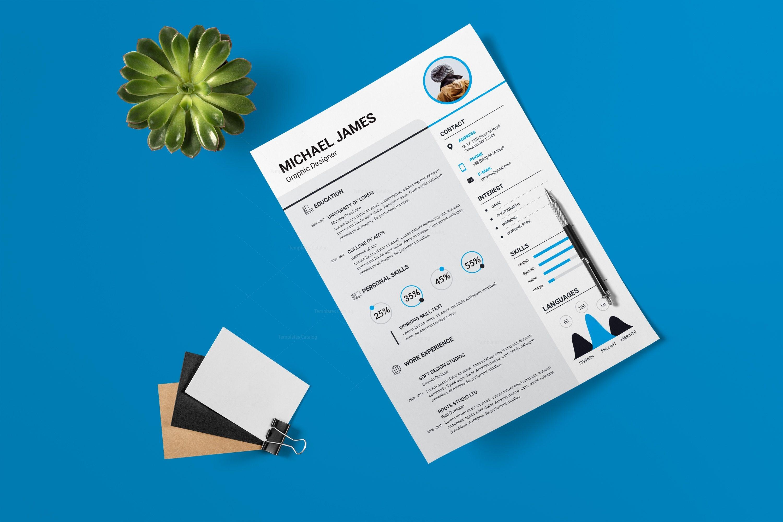 Minimalist Resume Design 002732