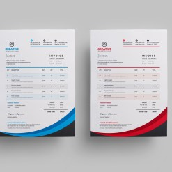 Creative Stylish Invoice Design