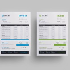 Modern Business Invoice Design