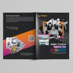 Black Bi-Fold Brochure Design