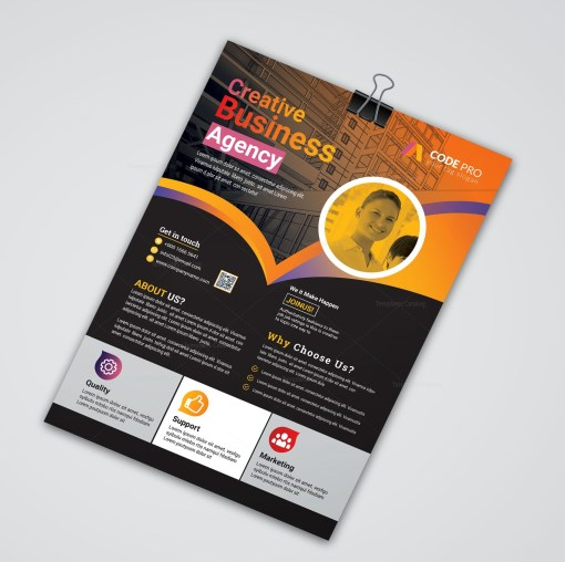 Gold Business Flyer Designs