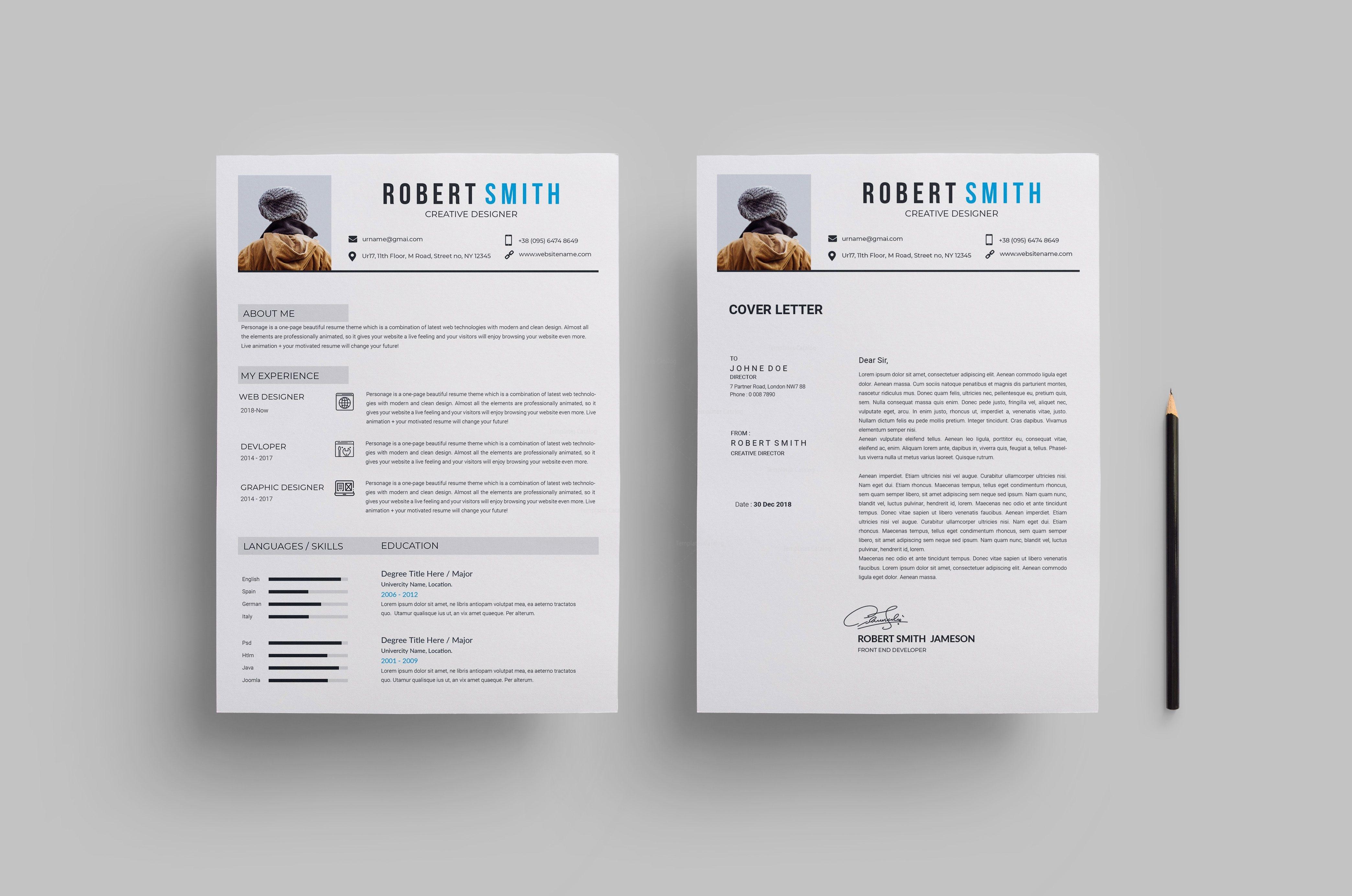 Minimalist Creative CV Design 002808