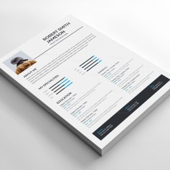 Minimalist Resume Design Template 3