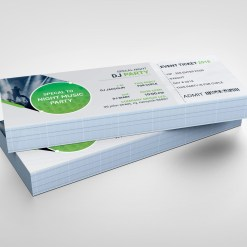 PSD Sleek Ticket Template