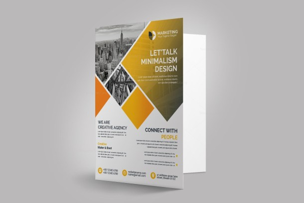 Creative Presentation Folder Template