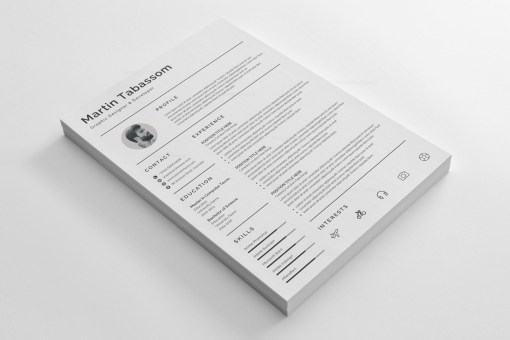 Simple Resume Design Template