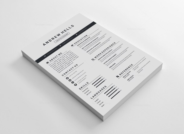 Minimalist Vector Resume Template