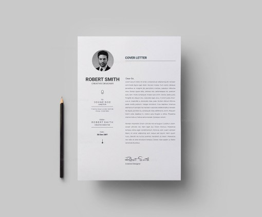 Simple Vector Resume Template