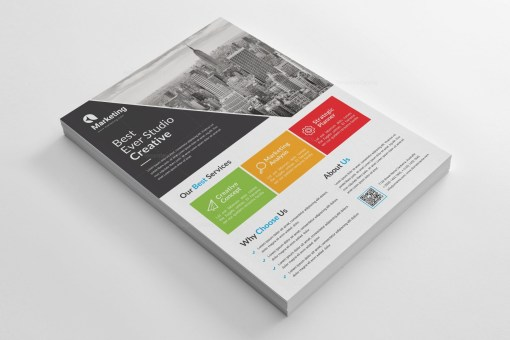 Colorful A4 PSD Flyer Template