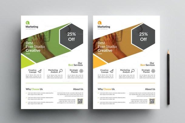 Elegant Business PSD Flyer Templates