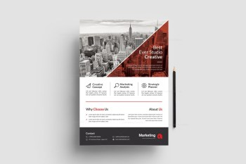 Modern Business PSD Flyer Templates