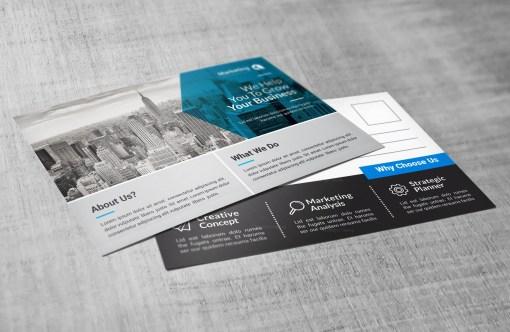 PSD Modern Postcards Design