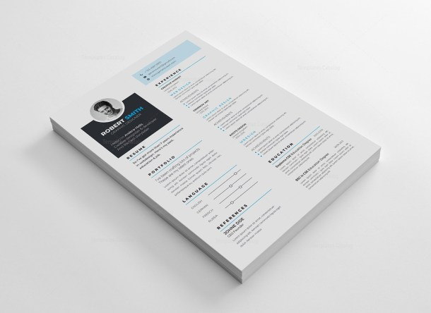 Elegant Vector Resume CV Design