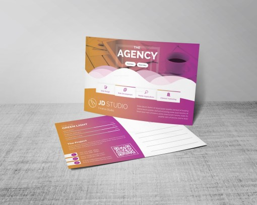 Stylish PSD Business Postcard Templates