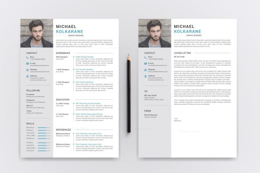 Sleek Resume CV Template