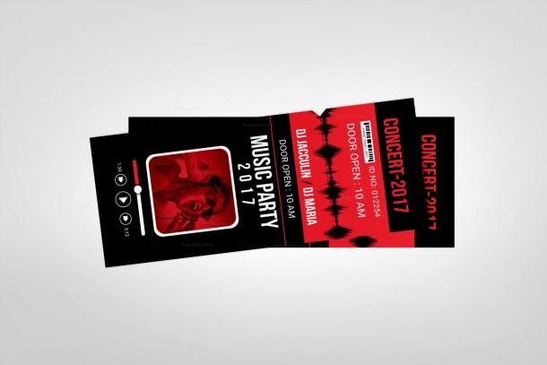 Vertical Event Ticket Design