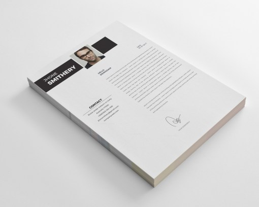 White Resume CV Template