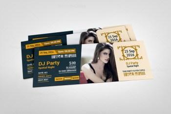 Modern Event Ticket Design