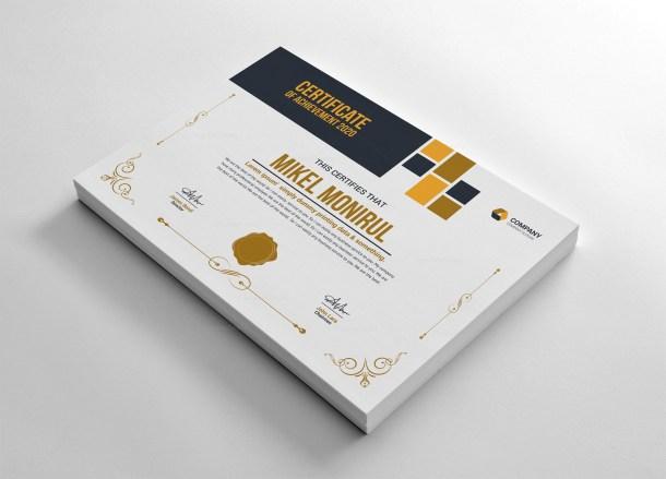 Minimal Achievement Certificate