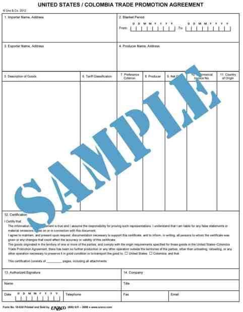 Certificate of Origin example 17.941