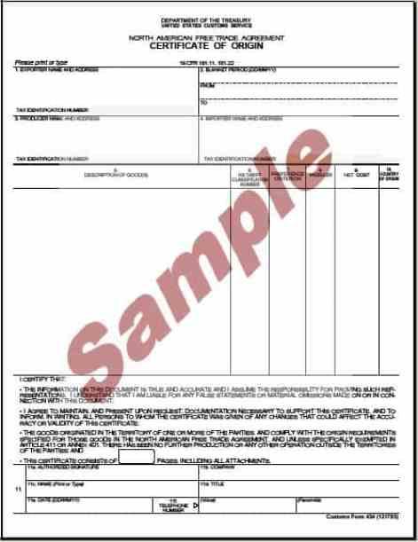 Certificate of Origin example 19.941
