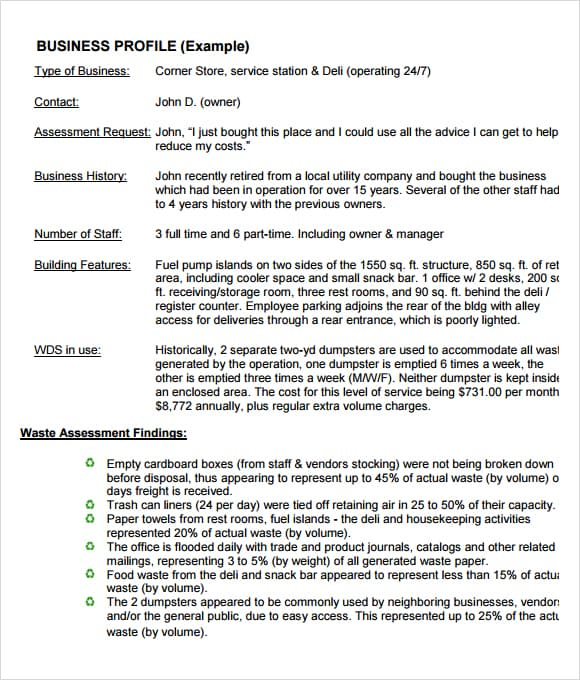 Company Profile Example 974651  How To Make Business Profile