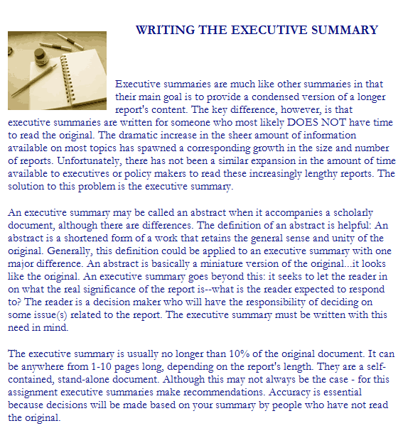 43 Free Executive Summary Templates in Word Excel PDF – Summary Document Template
