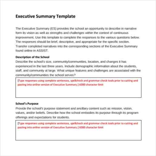 43 free executive summary templates in word excel pdf