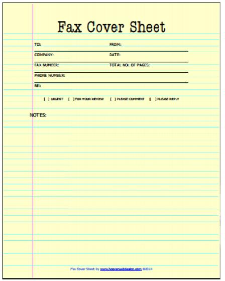 Fax Cover Sheet Templates 441