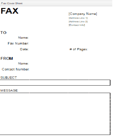 Fax Cover Sheet Templates 5974