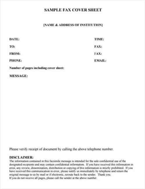 Fax Cover Sheet sample 13.41