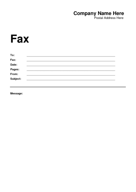 Fax Word sample 1941