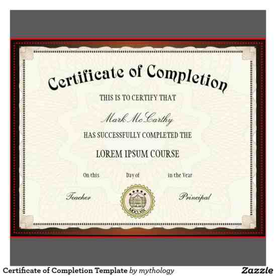 37 free certificate of completion templates in word excel pdf free certificate of completion example 19941 yadclub Gallery