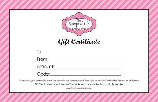 Free Gift Certificate sample 17.641