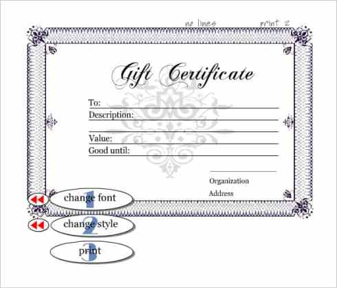 Free Gift Certificate sample 7941