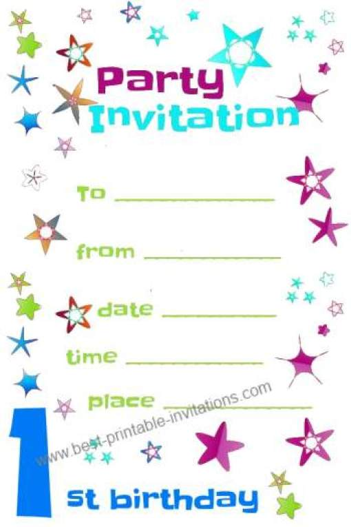 Free Party Invitation Template 9974