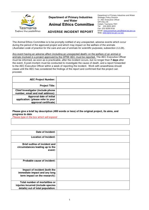 Incident Report sample 13.4