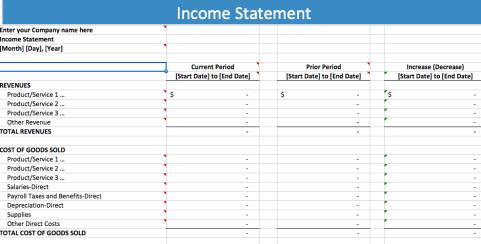 Income Statement sample 7461