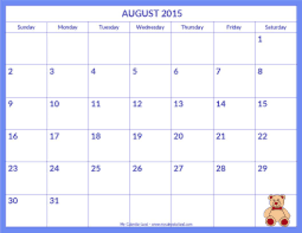 Monthly Calendar Sample 14.41