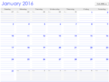 Monthly Calendar Template 5974