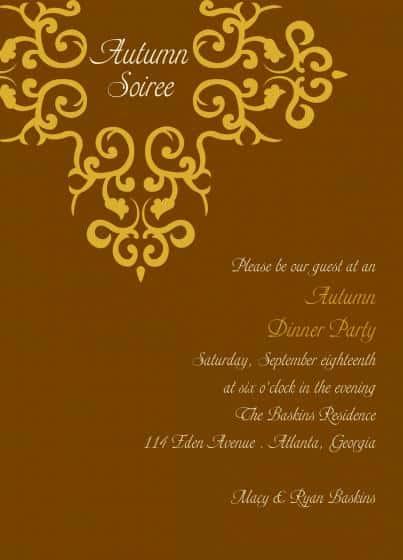 Party Invitation example 2941