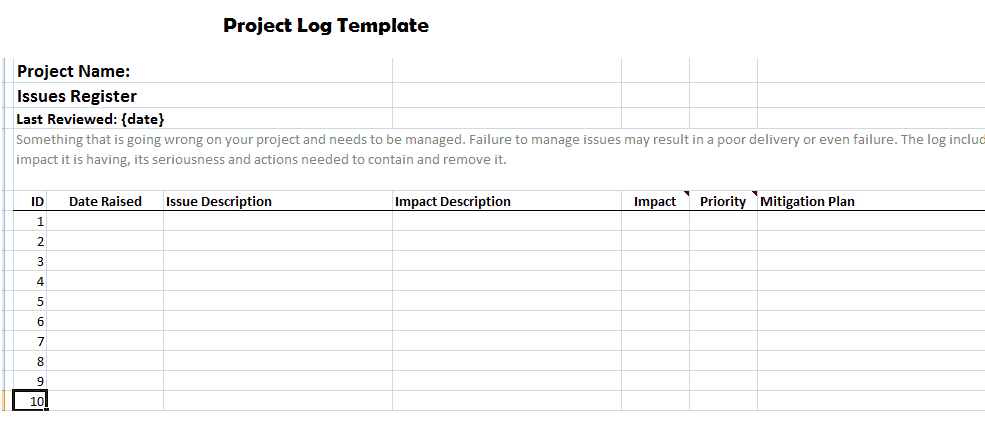 Project Log Template | 23 Free Project Log Templates In Word Excel Pdf