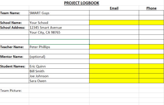 Project Log sample 29641